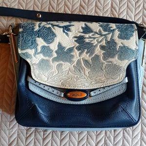 M by mimco blue handbag